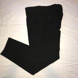 Black slim fitting slacks